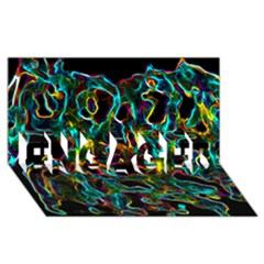 Soul Colour Engaged 3d Greeting Card (8x4)