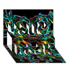 Soul Colour You Rock 3d Greeting Card (7x5)  by InsanityExpressedSuperStore