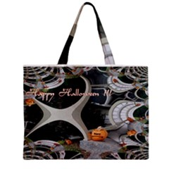Creepy Pumpkin Fractal Zipper Tiny Tote Bags by gothicandhalloweenstore