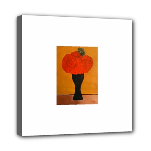 Flower Painting Mini Canvas 8  X 8  by JUNEIPER07