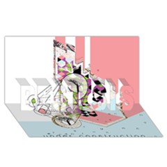Under Construction Best Sis 3d Greeting Card (8x4)