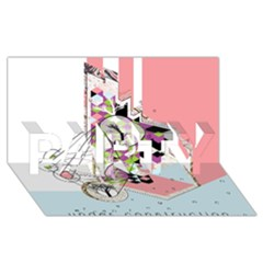 Under Construction Party 3d Greeting Card (8x4)