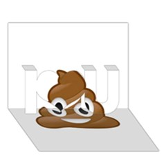 Poop I Love You 3d Greeting Card (7x5)  by redcow