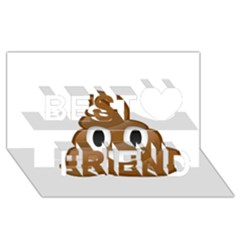 Poop Best Friends 3d Greeting Card (8x4)  by redcow