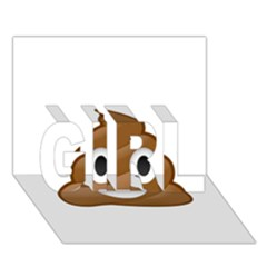 Poop Girl 3d Greeting Card (7x5)