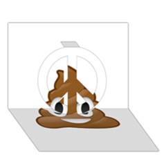 Poop Peace Sign 3d Greeting Card (7x5)  by redcow