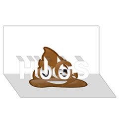 Poop Hugs 3d Greeting Card (8x4)