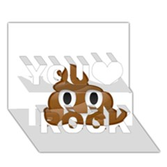 Poop You Rock 3d Greeting Card (7x5)  by redcow