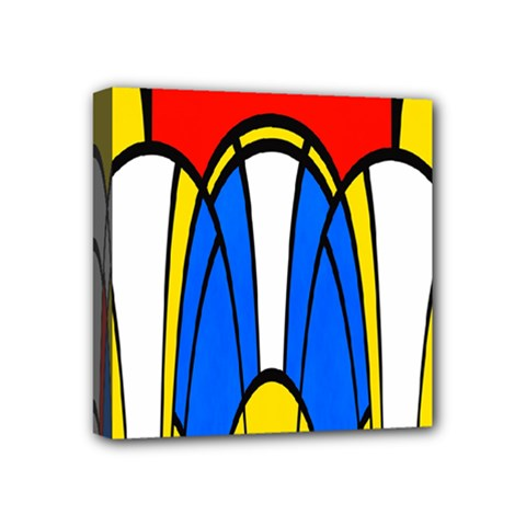 Colorful Distorted Shapes Mini Canvas 4  X 4  (stretched) by LalyLauraFLM
