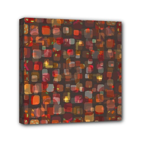 Floating Squares Mini Canvas 6  X 6  (stretched) by LalyLauraFLM