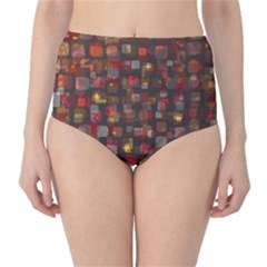 Floating Squares High Waist Bikini Bottoms
