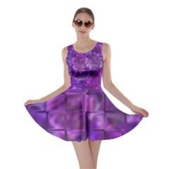 Purple Squares Skater Dress by KirstenStarFashion