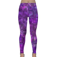 Purple Square Tiles Design Yoga Leggings