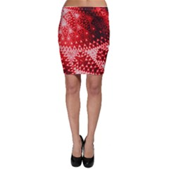 Red Fractal Lace Bodycon Skirts by KirstenStarFashion