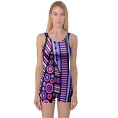 Stained Glass Tribal Pattern Women s Boyleg One Piece Swimsuits by KirstenStarFashion