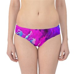 Stormy Pink Purple Teal Artwork Hipster Bikini Bottoms by KirstenStarFashion
