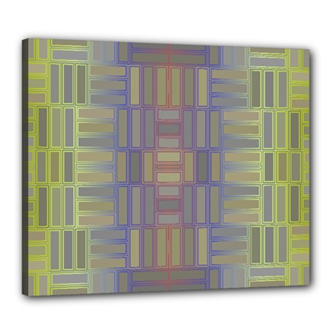 Gradient Rectangles Canvas 24  X 20  (stretched) by LalyLauraFLM