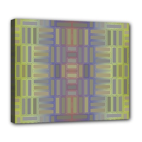 Gradient Rectangles Deluxe Canvas 24  X 20  (stretched) by LalyLauraFLM