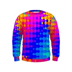 Totally Trippy Hippy Rainbow Boys  Sweatshirts