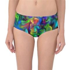 Unicorn Smoke Mid Waist Bikini Bottoms