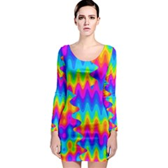 Amazing Acid Rainbow Long Sleeve Bodycon Dresses by KirstenStar