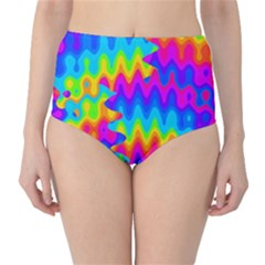 Amazing Acid Rainbow High Waist Bikini Bottoms
