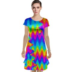 Amazing Acid Rainbow Cap Sleeve Nightdresses by KirstenStar
