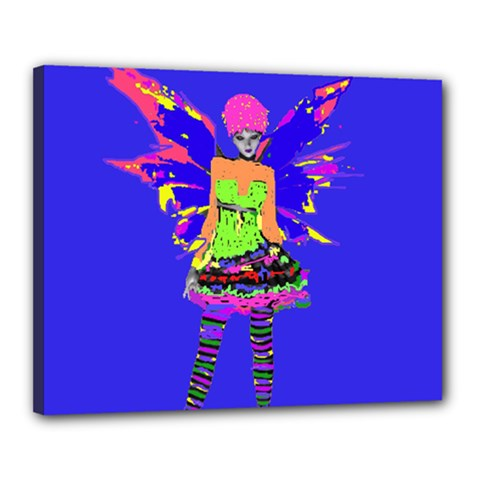 Fairy Punk Canvas 20  X 16  by icarusismartdesigns
