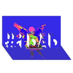 Fairy Punk #1 Dad 3d Greeting Card (8x4)  by icarusismartdesigns