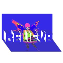 Fairy Punk Believe 3d Greeting Card (8x4)