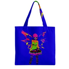 Fairy Punk Zipper Grocery Tote Bags by icarusismartdesigns