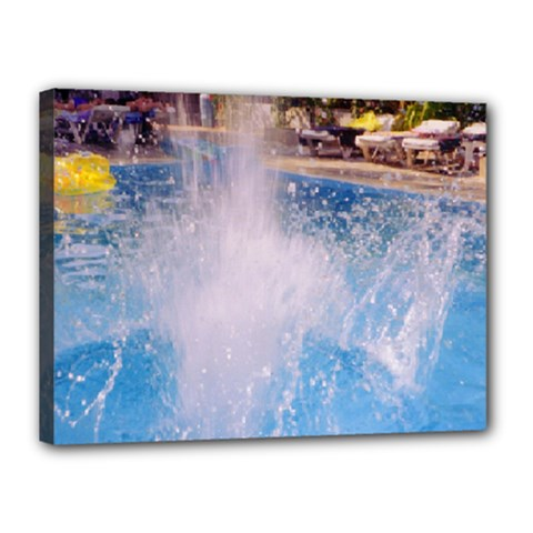 Splash 3 Canvas 16  X 12  by icarusismartdesigns