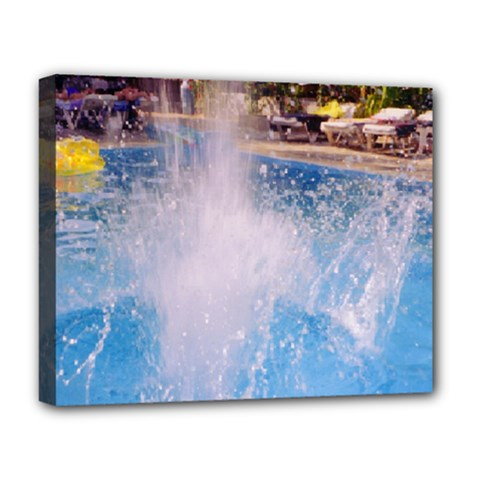 Splash 3 Deluxe Canvas 20  X 16   by icarusismartdesigns