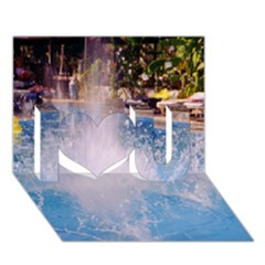 Splash 3 I Love You 3d Greeting Card (7x5)  by icarusismartdesigns