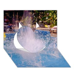 Splash 3 Heart 3d Greeting Card (7x5)  by icarusismartdesigns