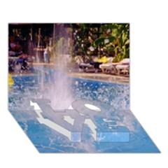 Splash 3 Love Bottom 3d Greeting Card (7x5)  by icarusismartdesigns