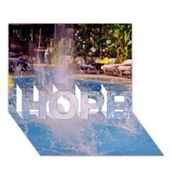 Splash 3 Hope 3d Greeting Card (7x5)  by icarusismartdesigns
