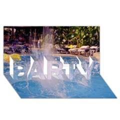 Splash 3 Party 3d Greeting Card (8x4)  by icarusismartdesigns