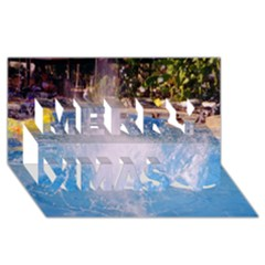 Splash 3 Merry Xmas 3d Greeting Card (8x4)  by icarusismartdesigns