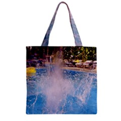 Splash 3 Zipper Grocery Tote Bags by icarusismartdesigns