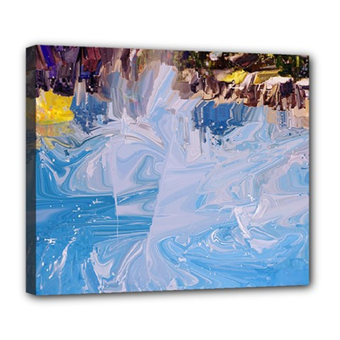 Splash 4 Deluxe Canvas 24  X 20   by icarusismartdesigns