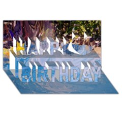 Splash 4 Happy Birthday 3d Greeting Card (8x4)  by icarusismartdesigns