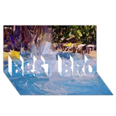 Splash 4 Best Bro 3d Greeting Card (8x4)