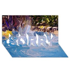 Splash 4 Sorry 3d Greeting Card (8x4)  by icarusismartdesigns