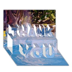 Splash 4 Thank You 3d Greeting Card (7x5)