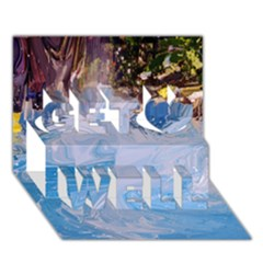 Splash 4 Get Well 3d Greeting Card (7x5)