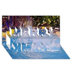 Splash 4 Merry Xmas 3d Greeting Card (8x4)  by icarusismartdesigns