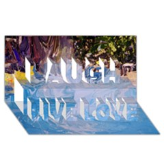 Splash 4 Laugh Live Love 3d Greeting Card (8x4)  by icarusismartdesigns