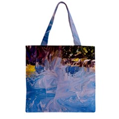 Splash 4 Zipper Grocery Tote Bags by icarusismartdesigns