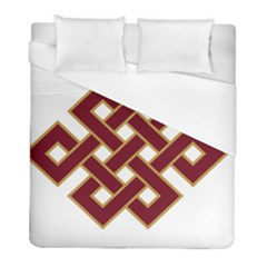 Buddhist Endless Knot Auspicious Symbol Duvet Cover Single Side (twin Size) by CrypticFragmentsColors